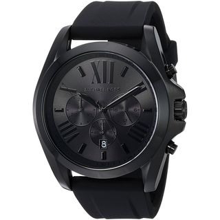 Michael Kors Men's MK8560 'Bradshaw' Chronograph Black Silicone Watch