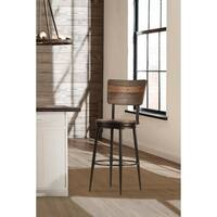 Jennings Swivel Counter Stool, Distressed Walnut - N/A