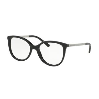Michael Kors Women's MK4034 3204 52 Cateye Metal Plastic Black Clear Eyeglasses
