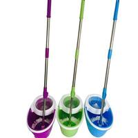 BLL-22A Purple Microfiber 360-Degree Rotary Head Ultra-Slim Mop with Oval Bucket