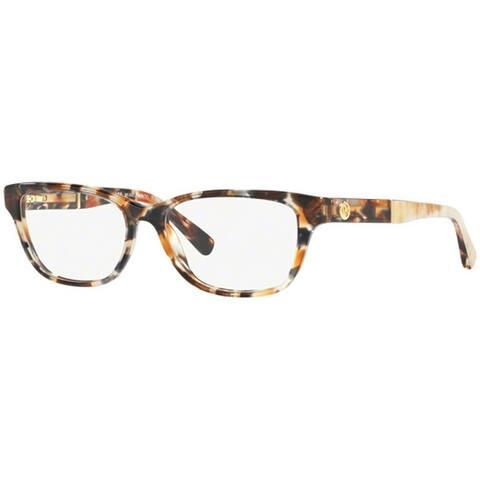 michael kors womens mk4031 3169 51 rectangle plastic havana clear eyeglasses - Best Online Prescription Glasses