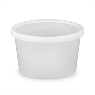 ePackageSupply - 16 oz. Food Grade Round Container with Lid - Translucent in Quantities of 10 or 25