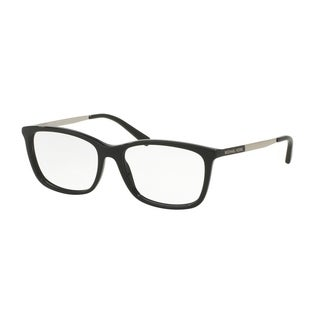 Michael Kors Women's MK4030 3163 54 Rectangle Metal Plastic Black Clear Eyeglasses