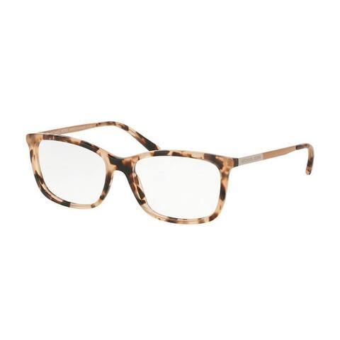 Michael Kors Women's MK4030 3162 54 Rectangle Metal Plastic Havana Clear Eyeglasses