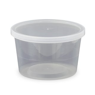 ePackageSupply - 16 oz. Food Grade Round Container with Lid - Clarified in Quantities of 10 or 25