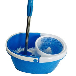 BLL-22A Bucket 360-Degree Rotary Head Ultra Slim Microfiber Mop with Oval Bucket