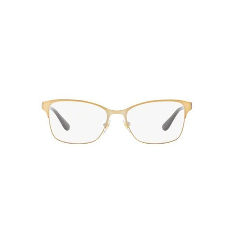 Vogue Women's VO4050 997 53 Square Metal Plastic Brown Clear Eyeglasses
