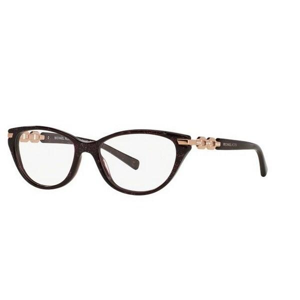 Shop Michael Kors MK 4020B 3040 Zermatt Cat Eye Purple Eyeglasses ...