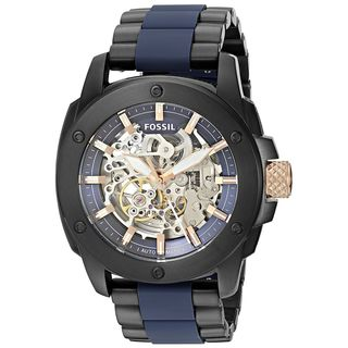 Fossil Men's ME3133 'Machine' Automatic Two-Tone Stainless steel and Silicone Watch