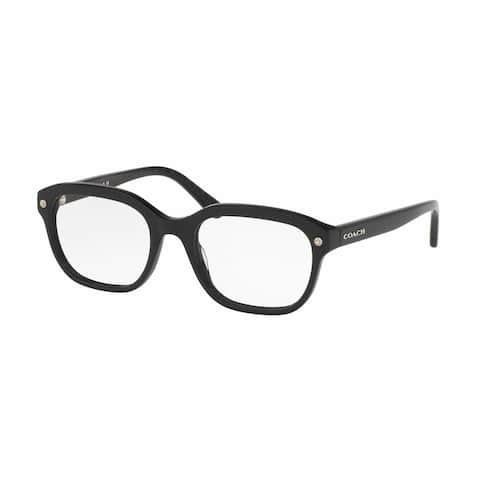 Coach Women's HC6094F 5423 54 Square Plastic White Clear Eyeglasses