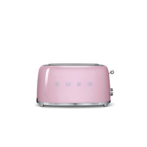 Smeg 50s Style 4-Slice Toaster, Pink