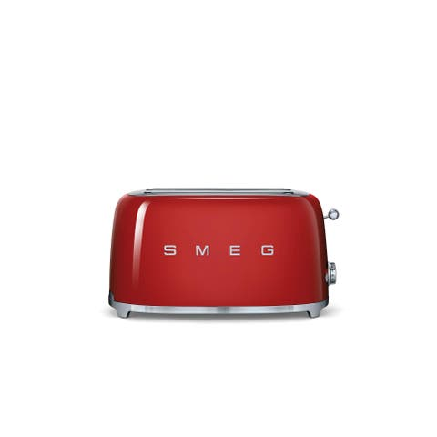 Smeg 50s Style 4-Slice Toaster, Red