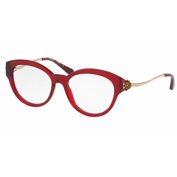 8331e15c5392 Shop Coach Women's HC6093F 5419 53 Cateye Metal Plastic Clear Eyeglasses -  Free Shipping Today - Overstock.com - 14778511