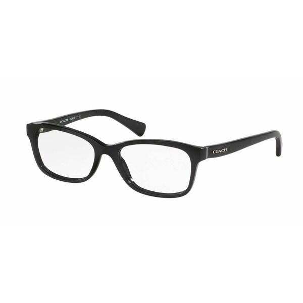 617d07b868a Coach Women  x27 s HC6089 5002 49 Rectangle Plastic Black Clear Eyeglasses