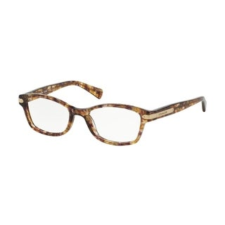 Coach Women's HC6065 5287 49 Rectangle Plastic Tortoise Clear Eyeglasses