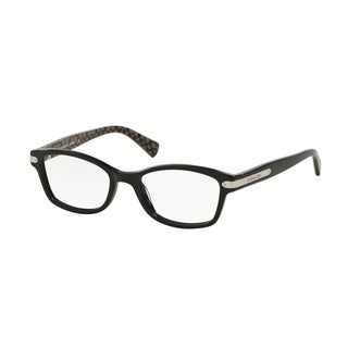 Coach Women's HC6065 5261 51 Rectangle Plastic Black Clear Eyeglasses