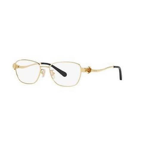 Coach Women's HC5086 9297 50 Rectangle Metal Gold Clear Eyeglasses