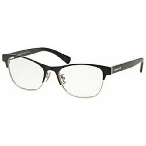 Coach Women's HC5074 9239 54 Square Metal Plastic Silver Clear Eyeglasses