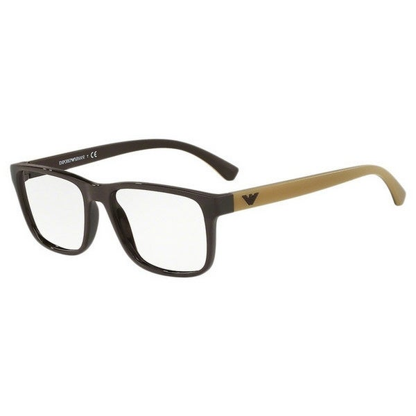367187eb99e Emporio Armani Men  x27 s EA3103 5562 55 Rectangle Plastic Brown Clear  Eyeglasses