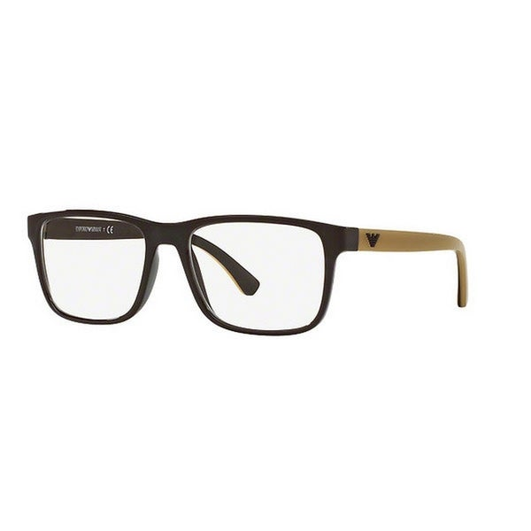 05a9bdda25c Emporio Armani Men  x27 s EA3103 5562 53 Rectangle Plastic Brown Clear  Eyeglasses