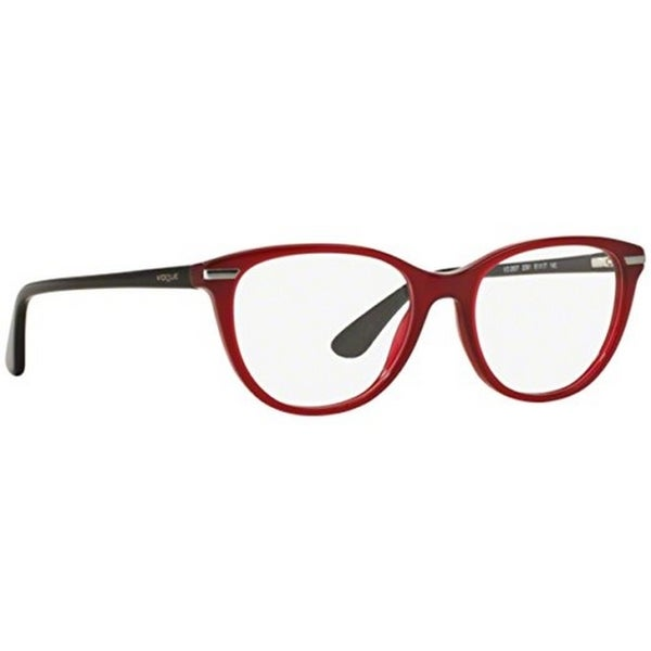 8a5a3b837bd Shop Vogue Women s VO2937 2391 51 Oval Plastic Red Clear Eyeglasses ...