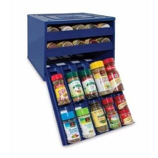 YouCopia Original Blue 30-Bottle SpiceStack Spice Organizer