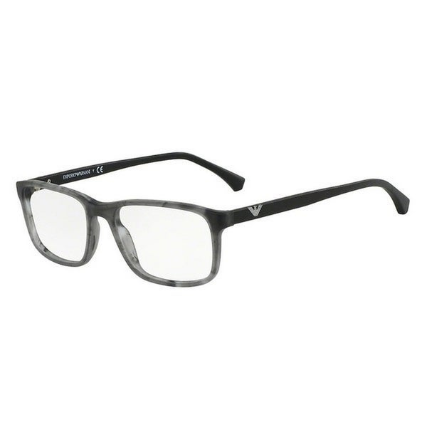 ad4dc16a57 Shop Emporio Armani Men s EA3098 5551 53 Rectangle Plastic Grey Clear  Eyeglasses - Free Shipping Today - Overstock - 14779018