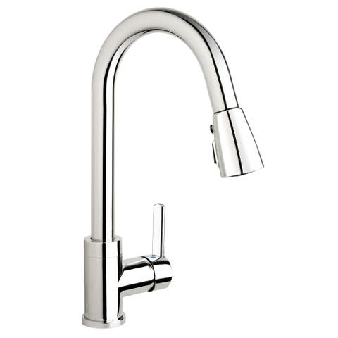 Essential Style LOF78CCP Polished Chrome 1-handle Kitchen Sink Faucet with Pull-down Spout