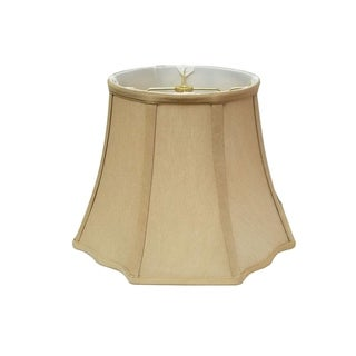 Royal Designs Flare Bottom w Outside Corner Scallop Basic Lamp Shade, Antique Gold, 5 x 10 x 8
