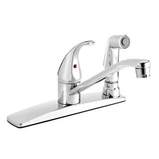 Essential Polished Chrome Low-arc Spout 1-handle Kitchen Sink Faucet