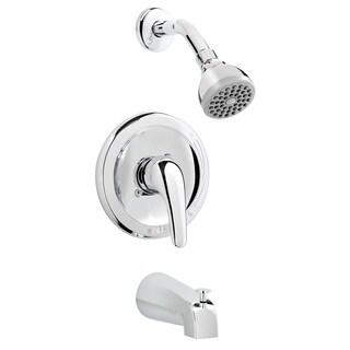 Polished Chrome Brass Bathtub Shower Faucet Combo