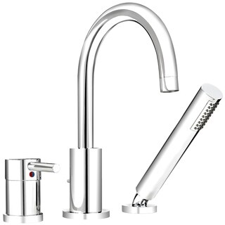 Chrome-finished Metal 1-handle Roman Bathtub Faucet