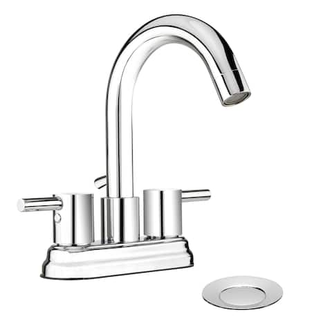 Belanger DEL74CCP Dual Handle Centerset Bathroom Faucet, Chrome