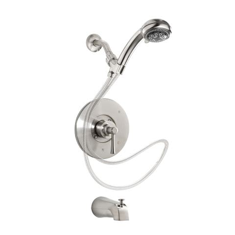 Essential Style NEO90HSCBN Single Handle Tub Faucet with Hand Shower, Brushed Nickel
