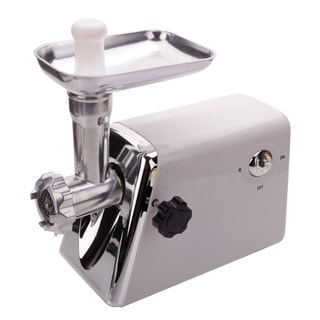 1,300-watt Domestic US Standard White Multifunctional Electric Sausage Maker and Meat Grinder