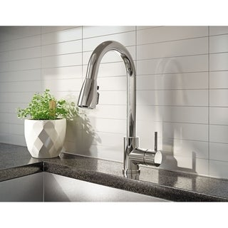 URB78CBN Brushed Nickel 1-handle Kitchen Sink Faucet with Pull-Down Spout