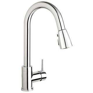 URB78CCP Polished Chrome 1-handle Kitchen Sink Faucet with Pull-Down Spout