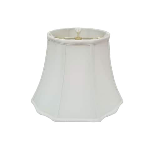 Royal Designs Flare Bottom Outside Corner Scallop White Lamp Shade, 8 x 14 x 11