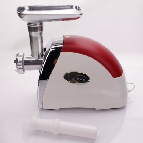 Red 2,000-watt US Standard Domestic Multifunctional Electric Sausage Maker Meat Grinder Red