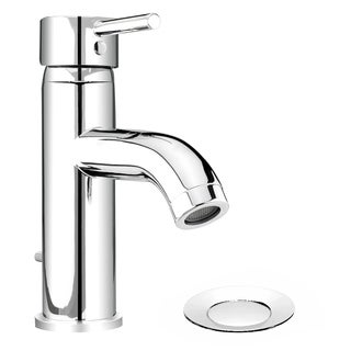 Essential Style DEL22CCP Polished Chrome 1-handle Single-hole Bathroom Sink Faucet with 4-inch Centerset