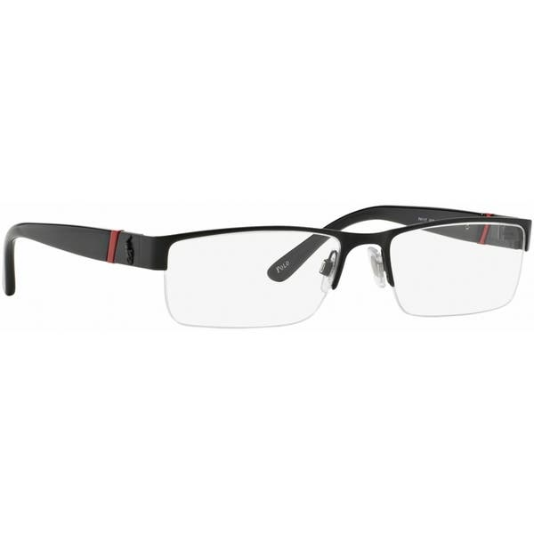 6cd13fa8a736 Polo by Ralph by Ralph Lauren Lauren Men's PH1117 9038 54 Rectangle Metal  Plastic Black Clear Eyeglasses