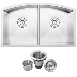 Ticor TR2210 Stainless Steel 16-gauge Double Bowl Undermount Kitchen Sink