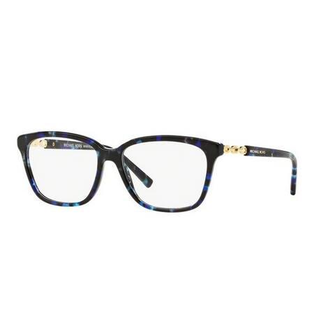 Michael Kors Women's MK8018F 3109 54 Square Plastic Havana Clear Eyeglasses