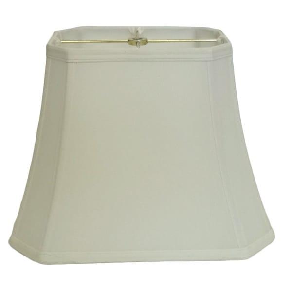 Off-white Rectangle Cut-corner Silk Shade