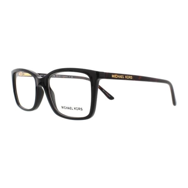 f024497d49f Michael Kors Women  x27 s MK8013 3057 51 Rectangle Plastic Havana Clear  Eyeglasses