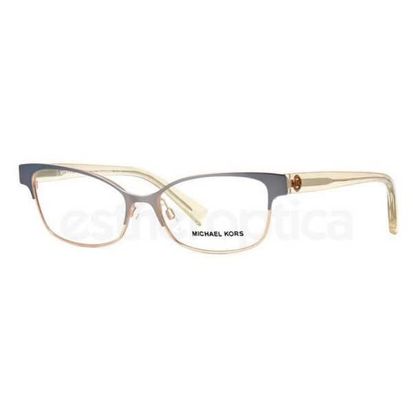 b5ea7acbe14a Michael Kors Women's MK7004 1030 53 Cateye Metal Plastic Gunmetal Clear  Eyeglasses
