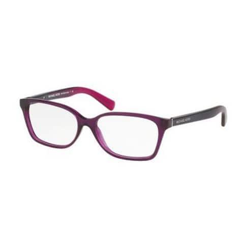 Michael Kors Women's MK4039F 3222 54 Rectangle Plastic Purple Clear Eyeglasses