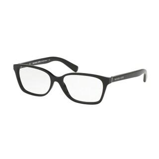 Michael Kors Women's MK4039F 3177 54 Rectangle Plastic Black Clear Eyeglasses