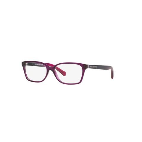 Michael Kors Women's MK4039 3222 54 Rectangle Plastic Purple Clear Eyeglasses