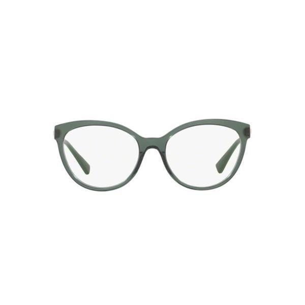8e6846b78c4d Versace Women  x27 s VE3237 5215 52 Round Metal Plastic Brown Clear  Eyeglasses